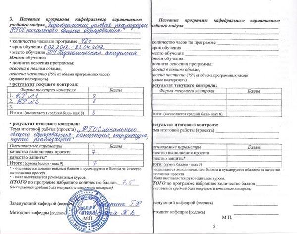 Педагогические условия реализации ФГОС НОО. 2012.
